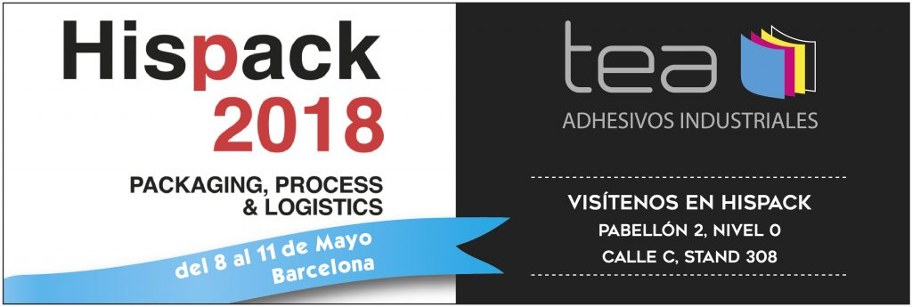 Tea Adhesivos en Hispack Barcelona 2018