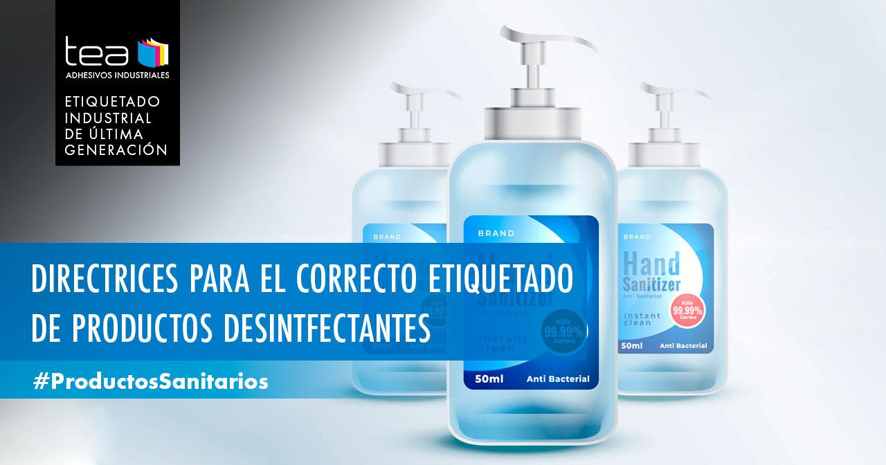 Directrices para el correcto etiquetado de productos desinfectantes