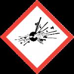 Pictogramas de productos de limpieza: explosivo