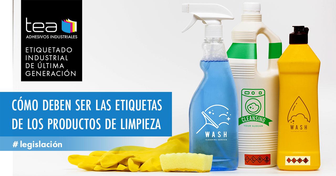 Etiquetas de productos de limpieza